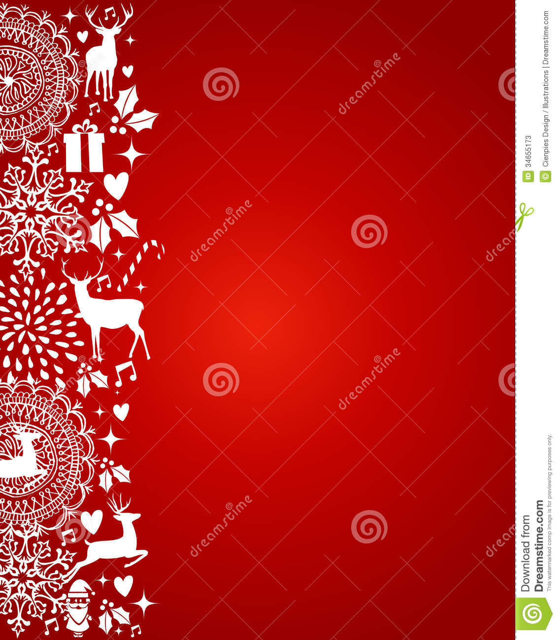 Merry christmas elements red postcard vector file stock for Decoration word