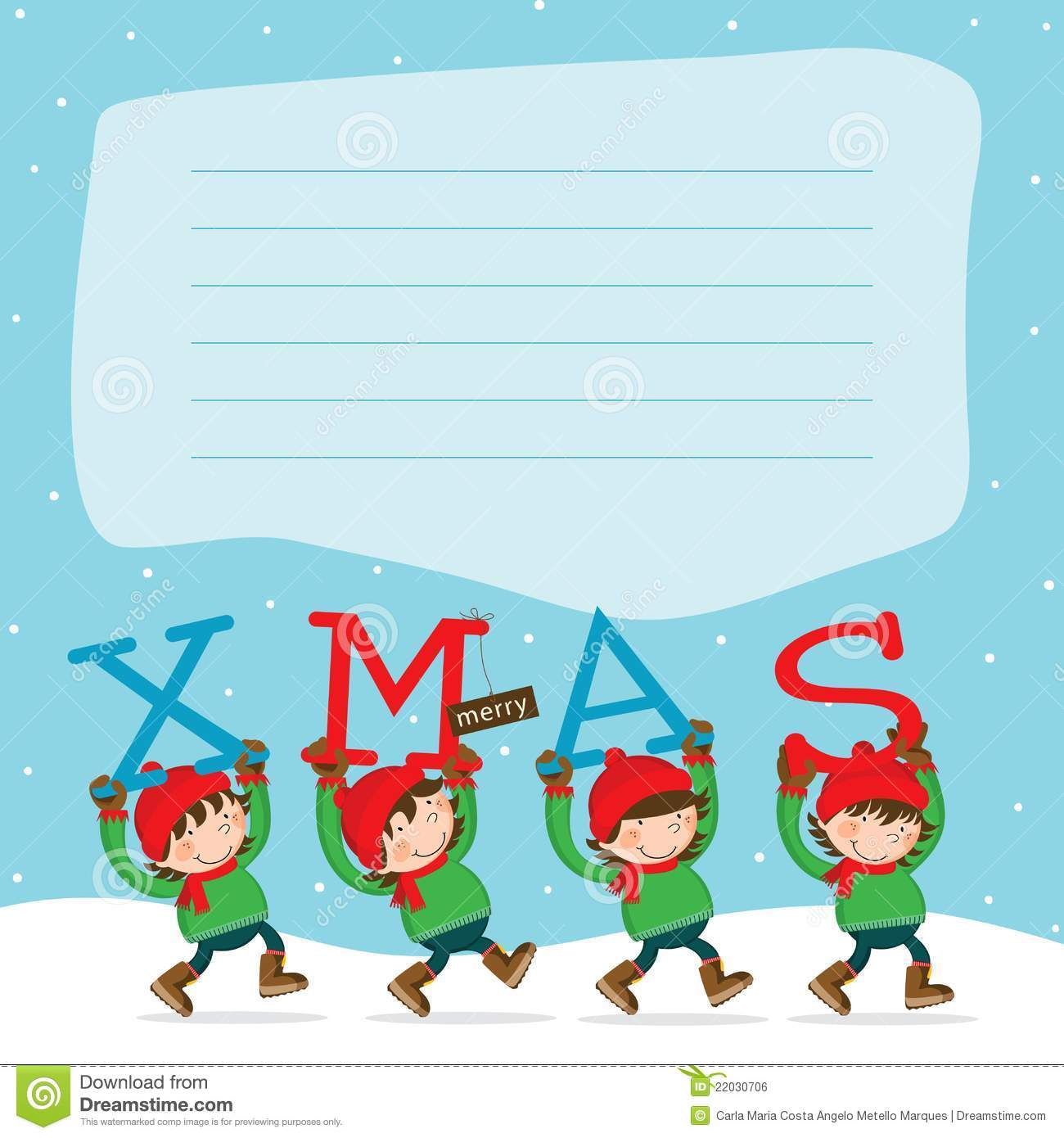 Merry Christmas Elf´s Royalty Free Stock Image - Image: 22030706