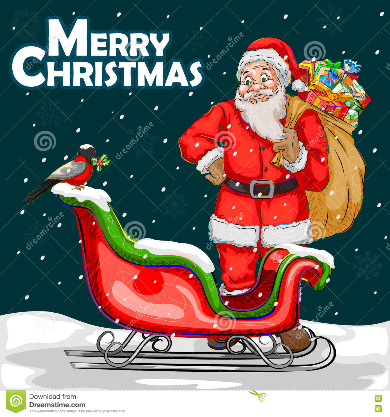 Merry Christmas Festival Celebration Background Stock ...