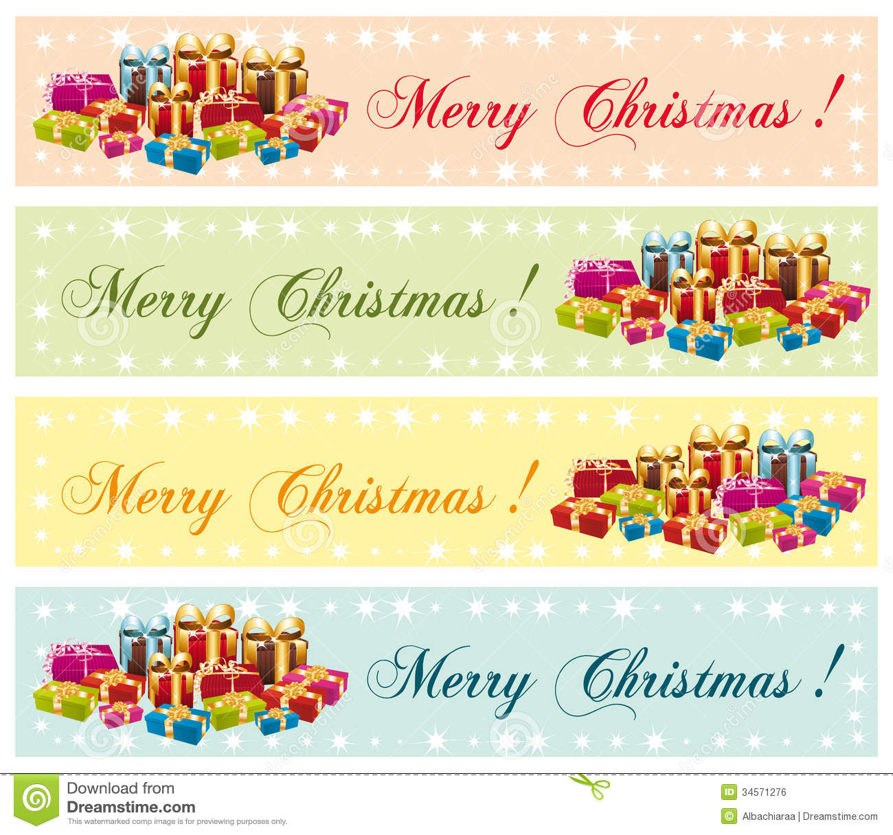 Merry christmas festive commercial banners royalty free stock image