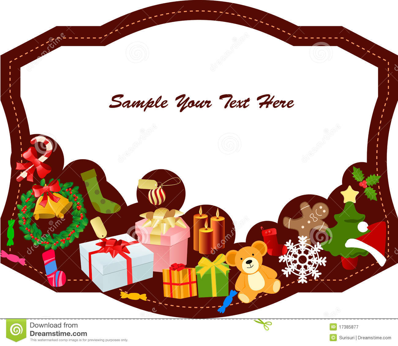Merry Christmas Frame Royalty Free Stock Photography - Image: 17385877
