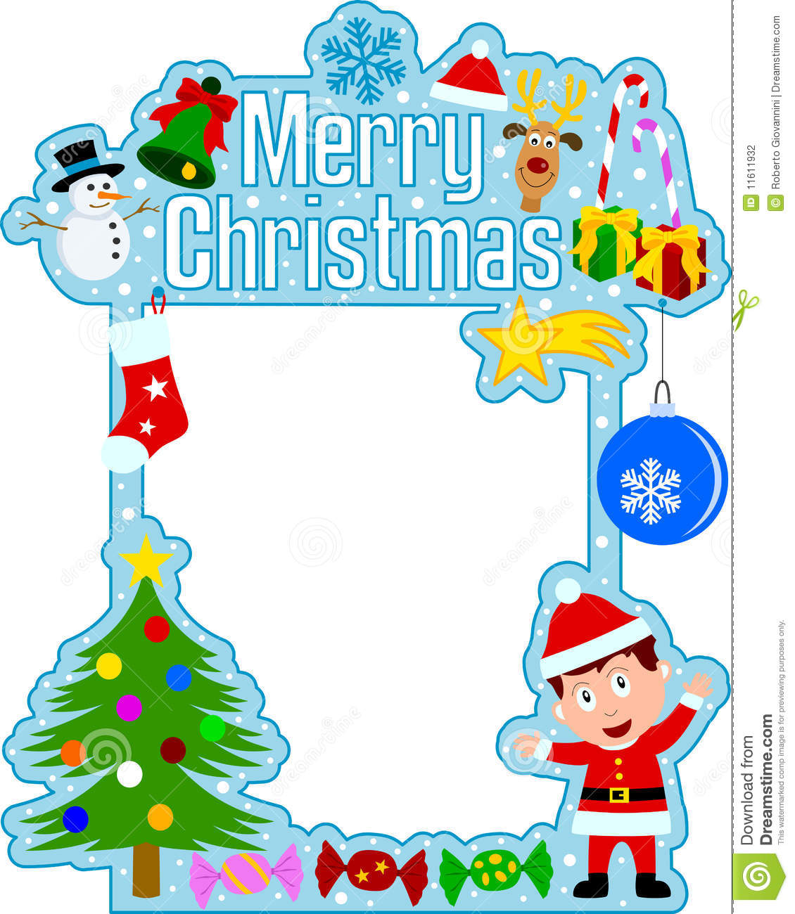 Merry Christmas Frame [Boy] Stock Photography - Image: 11611932