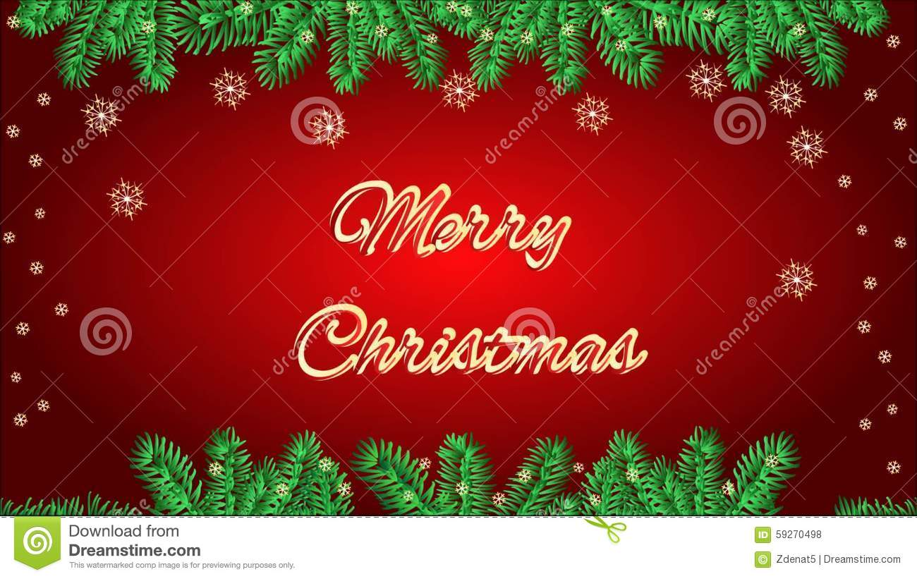 Merry Christmas Frame With A Candlestick Video Stock Footage Video