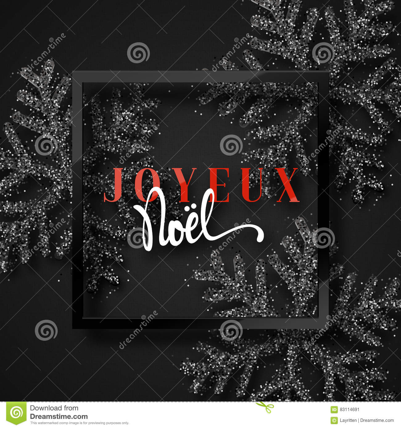 download merry christmas french inscription joyeux noel stock vector illustration of black - Merry Christmas French