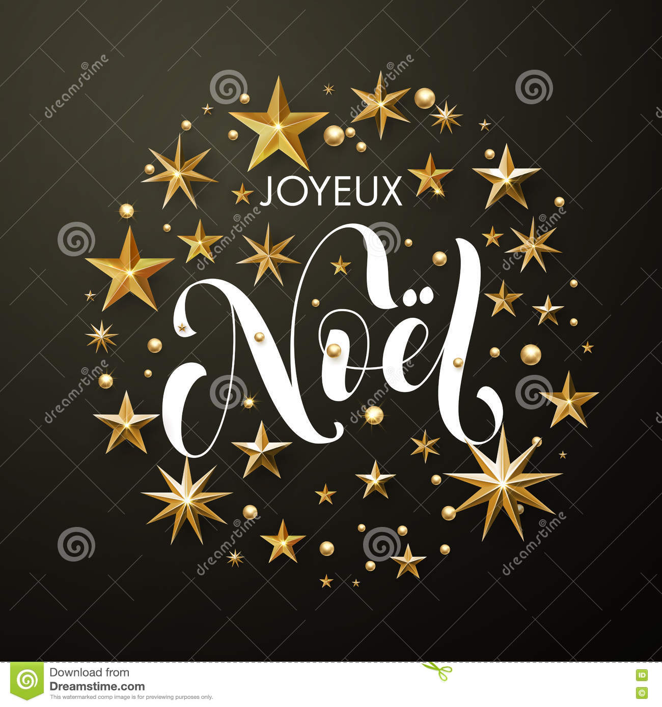 download merry christmas french joyeux noel gold glitter stars greeting card stock illustration illustration of - Merry Christmas French