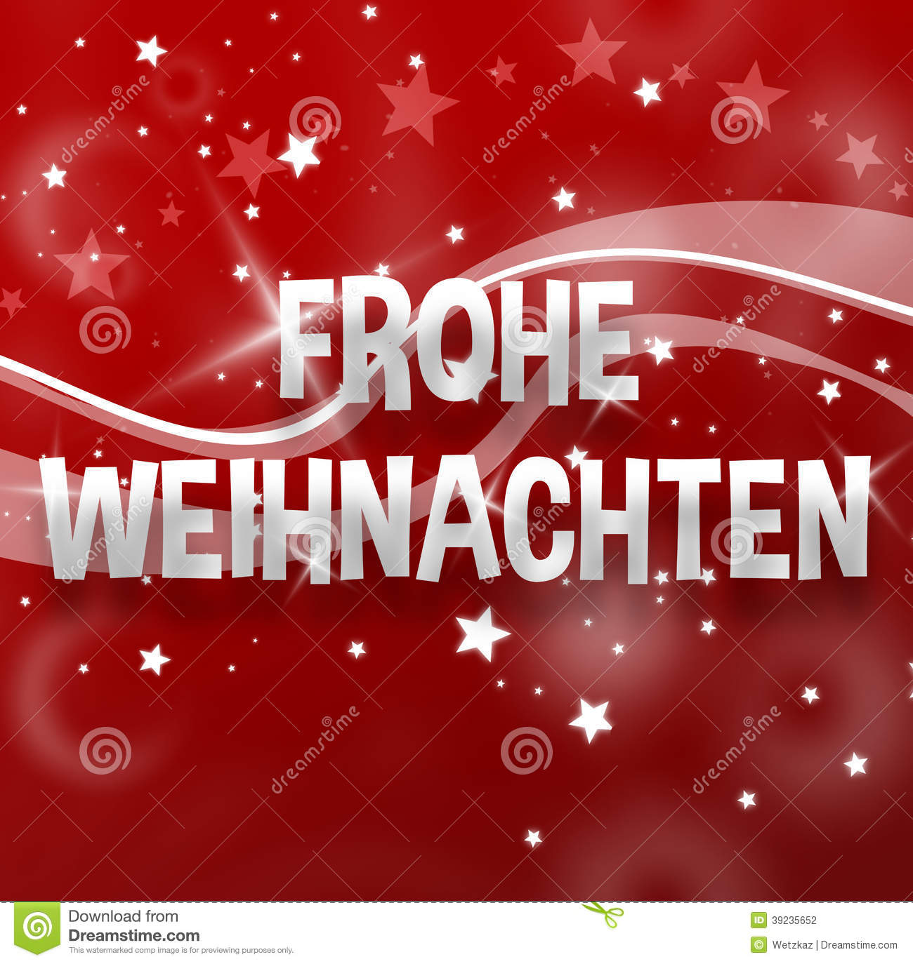 How Do You Say Merry Christmas In German.Merry Christmas German Language Stock Illustration