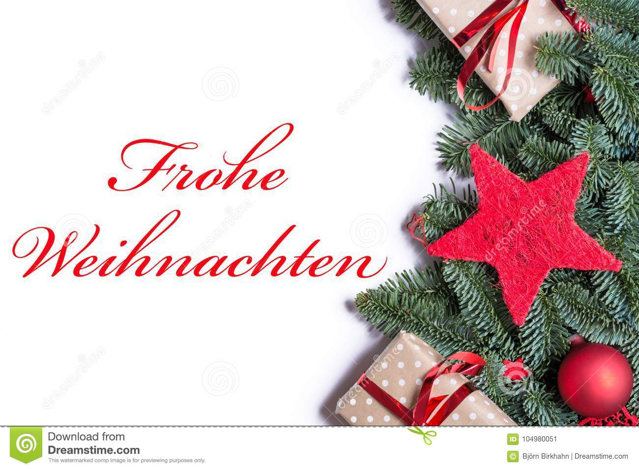 download merry christmas in german in red on a christmas background borde stock image image