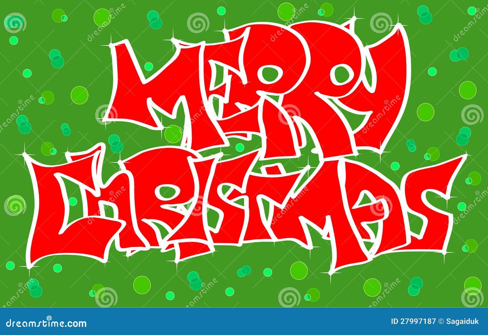 Christmas Graffiti Letters.Merry Christmas Graffiti Stock Vector Illustration Of Drawn