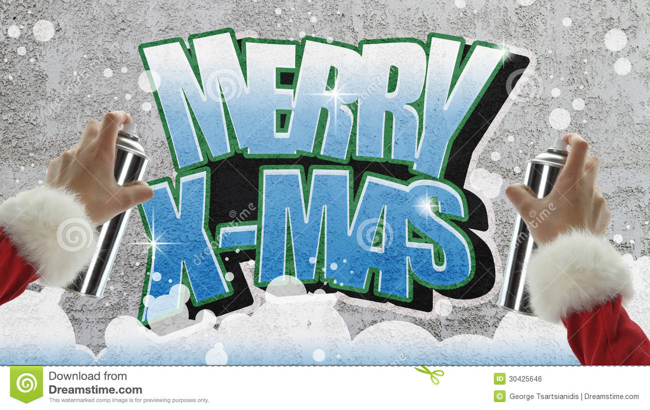 merry christmas graffiti stock illustration image of