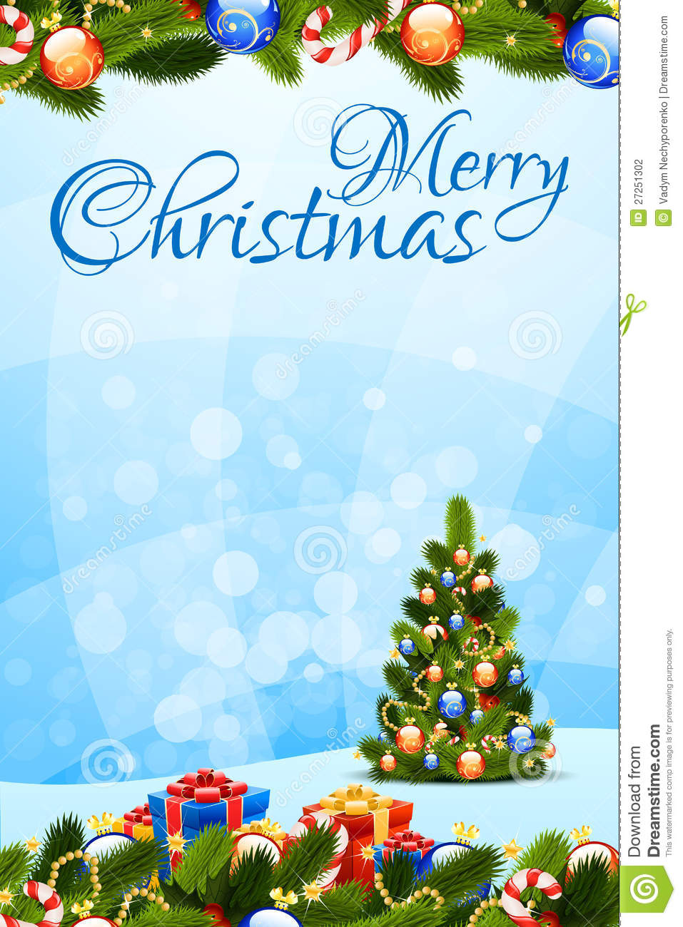 merry christmas greeting card stock vector illustration of