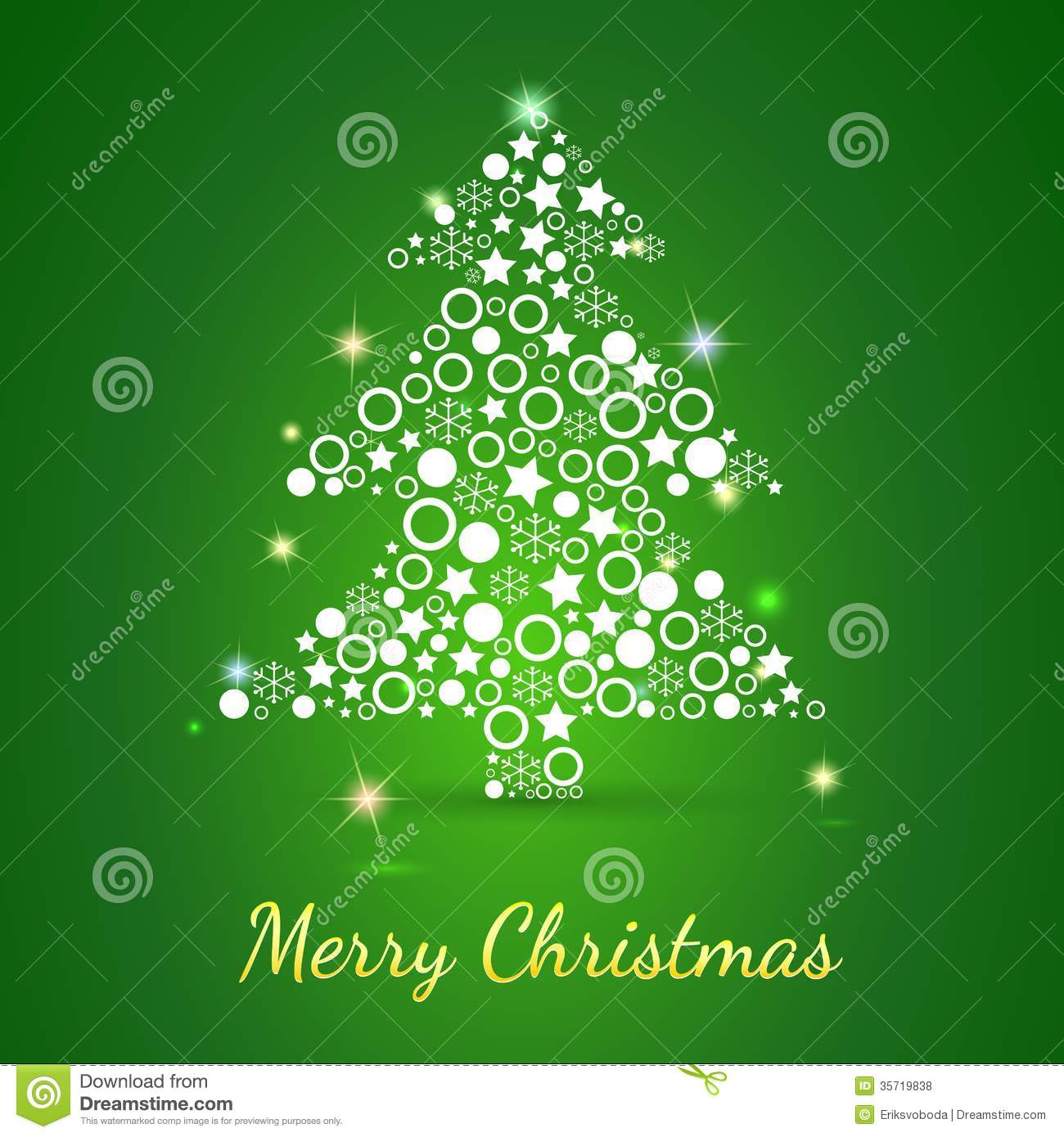 Merry Christmas Greeting Card Background Stock Vector Illustration