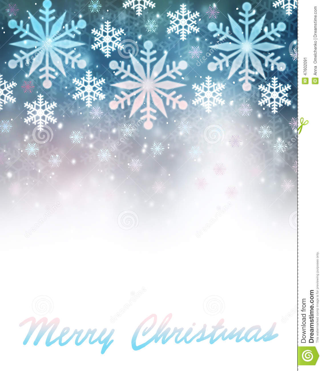 Christmas Card Borders Snowflakes Merry christmas greeting card border ...