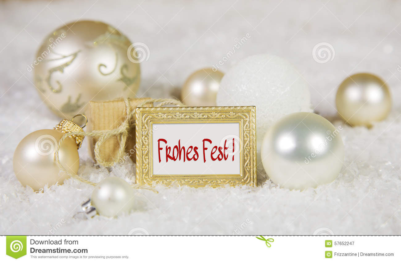 Merry christmas greeting card with german text and white golden download merry christmas greeting card with german text and white golden stock image image m4hsunfo