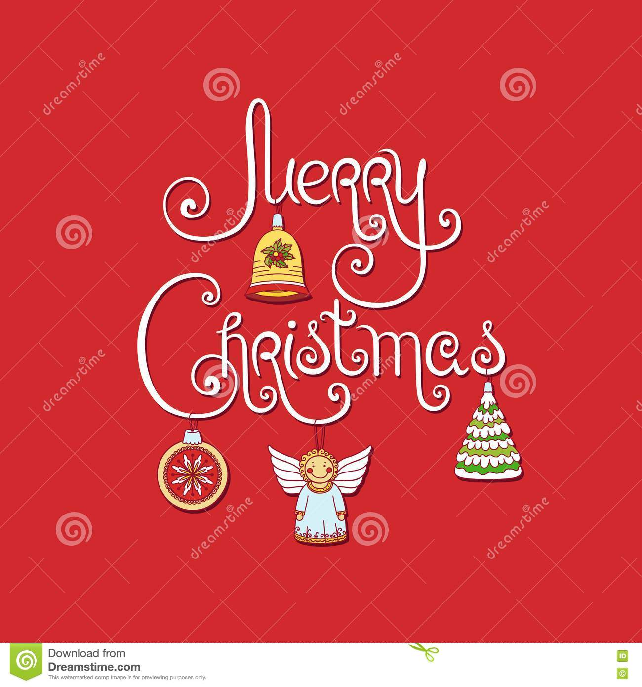 Merry christmas greeting card stock vector illustration of bell download merry christmas greeting card stock vector illustration of bell party 77004427 m4hsunfo