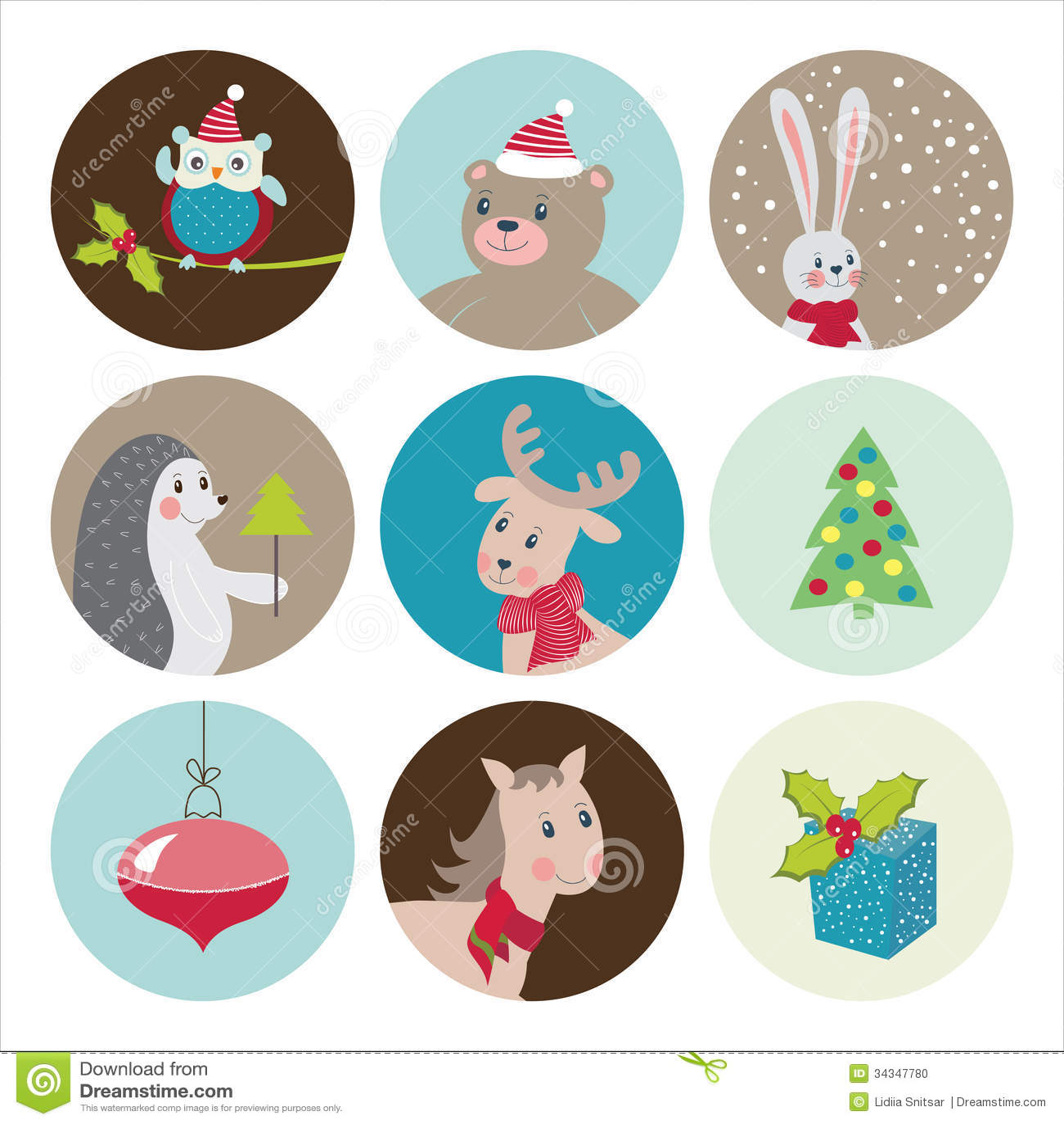 Merry Christmas Greeting Card Stock Illustration Illustration Of