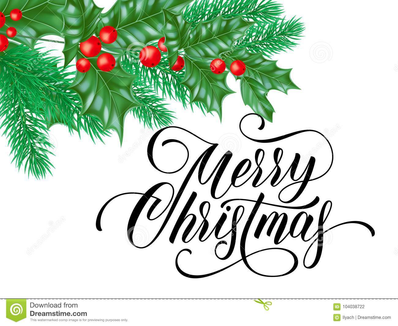 Merry Christmas Wishes Text.Merry Christmas Greeting Card Of Holy On Snow White