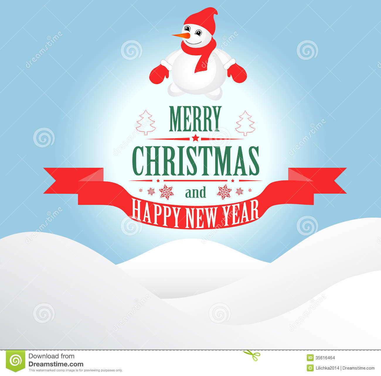 merry christmas greeting card stock illustration illustration of