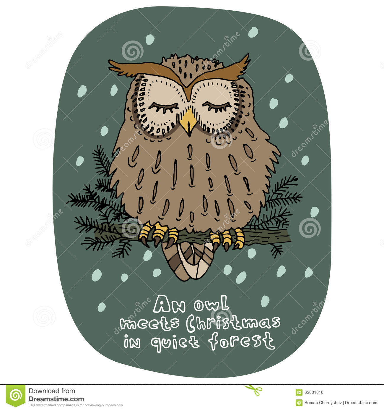 Cartoon Owl Card Stock Image | CartoonDealer.com #17834689