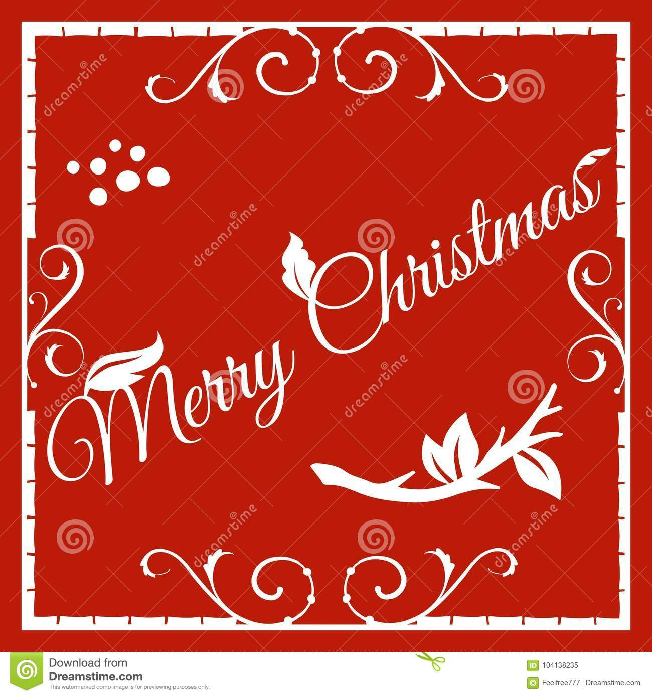 Merry christmas greeting card stock vector illustration of download merry christmas greeting card stock vector illustration of celebrate gift 104138235 m4hsunfo