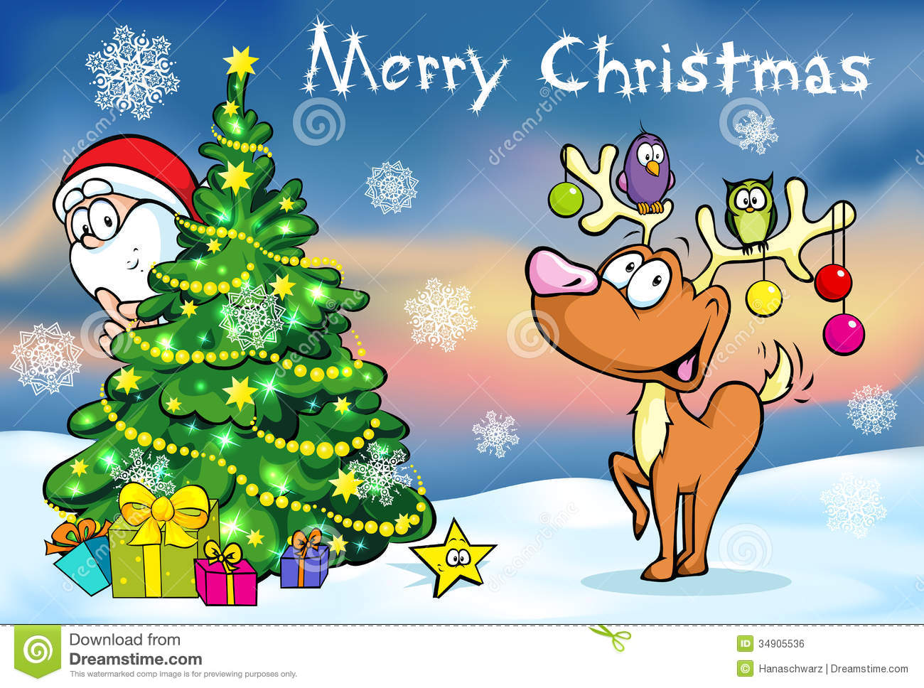 Merry Christmas Greeting Card Stock Vector Illustration Of Card