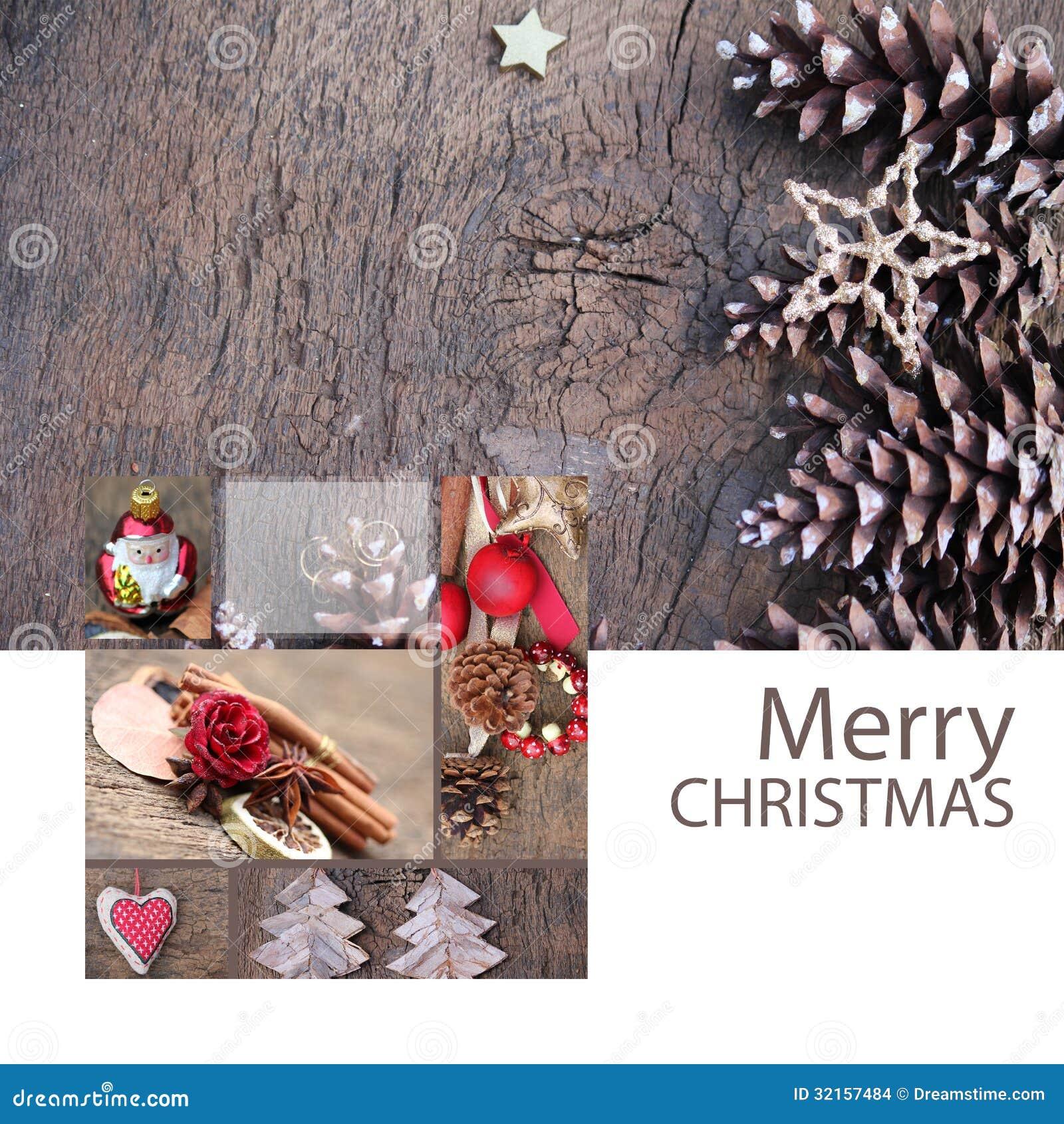 Merry Christmas Greeting Card Santa Stock Images Image