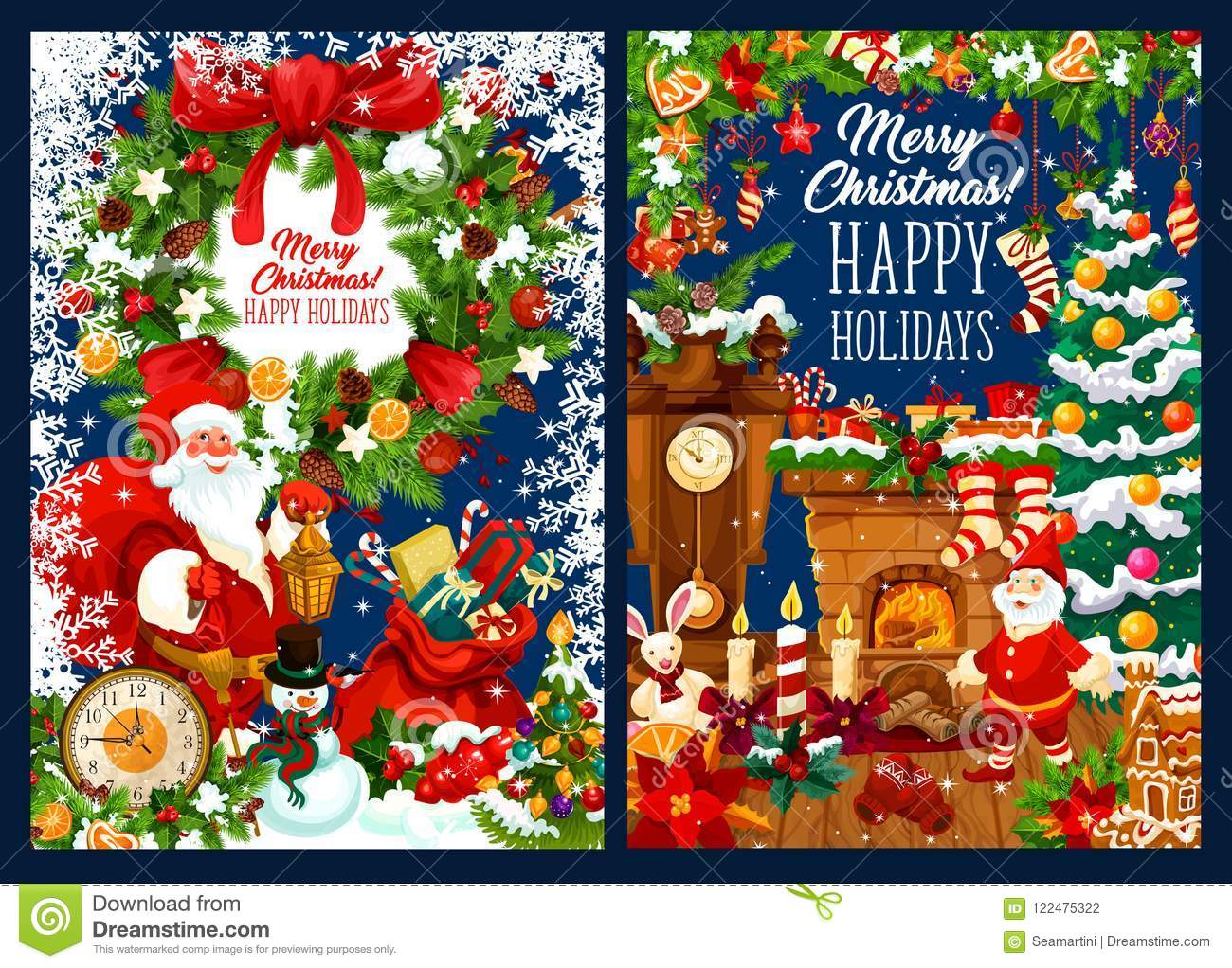 christmas card with wishes of happy winter holiday - 12 Wishes Of Christmas