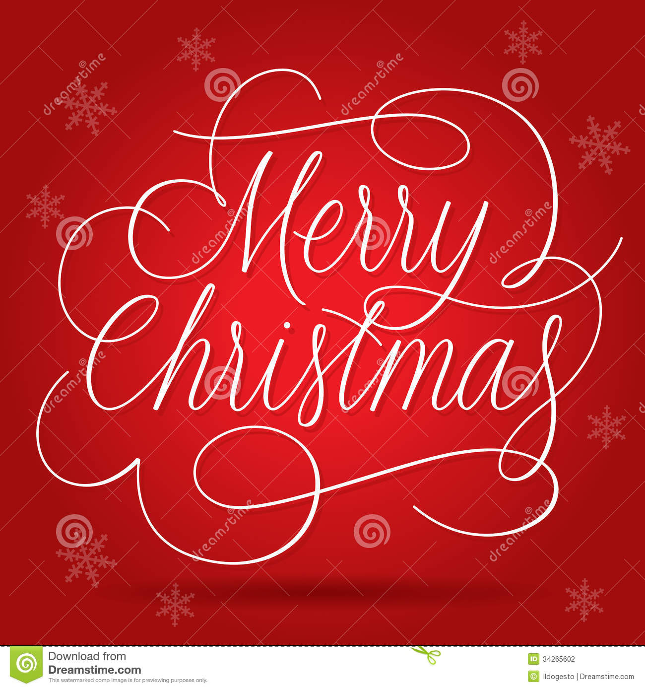 Merry Christmas Greetings Slogan On Red Background Stock Vector