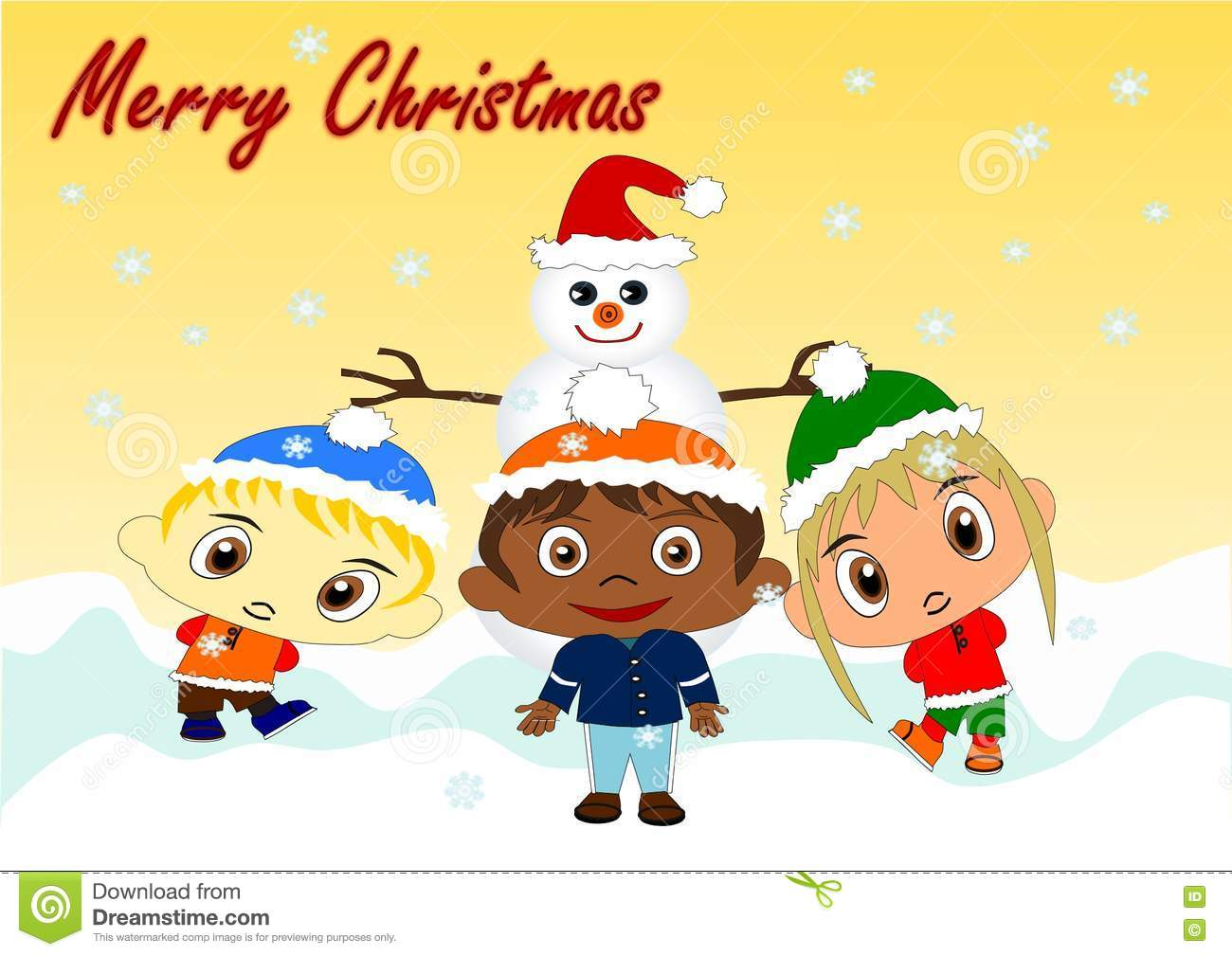 Merry Christmas stock illustration. Illustration of merry - 76647603