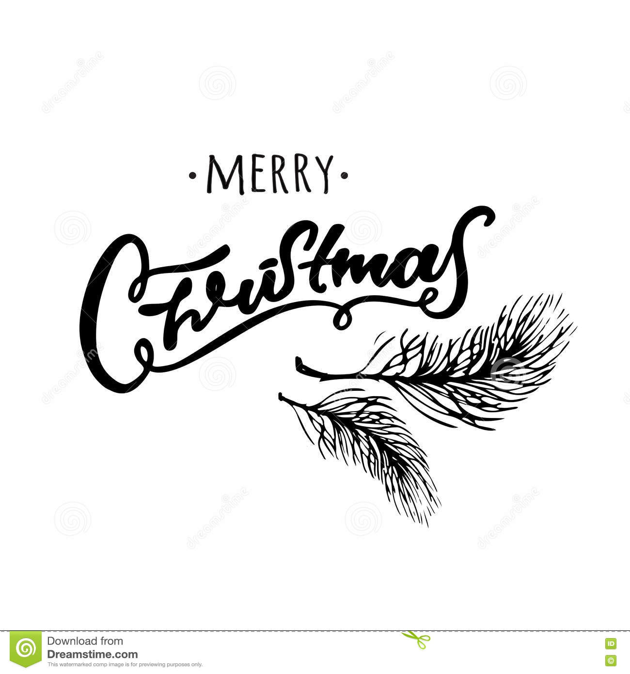 Merry Christmas Images Black And White.Merry Christmas Hand Drawn Design Black And White Hand