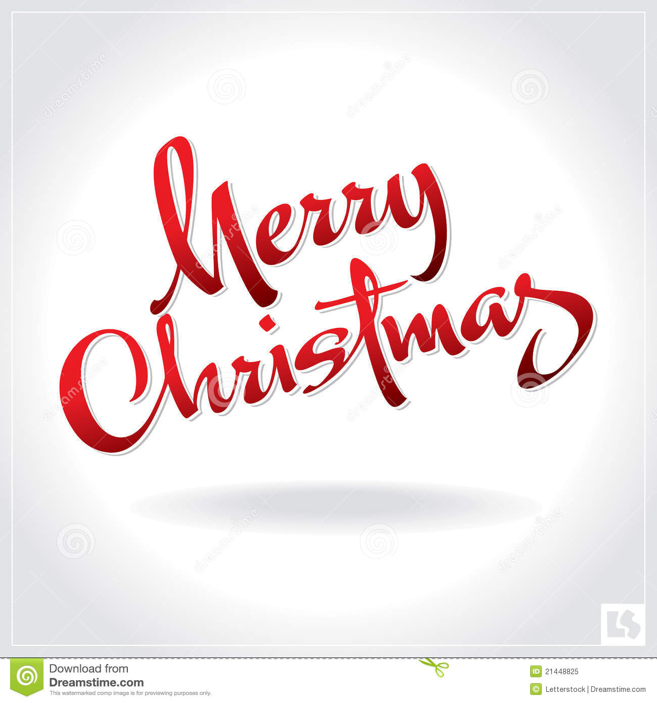 Merry Christmas Hand Lettering Vector Stock Vector