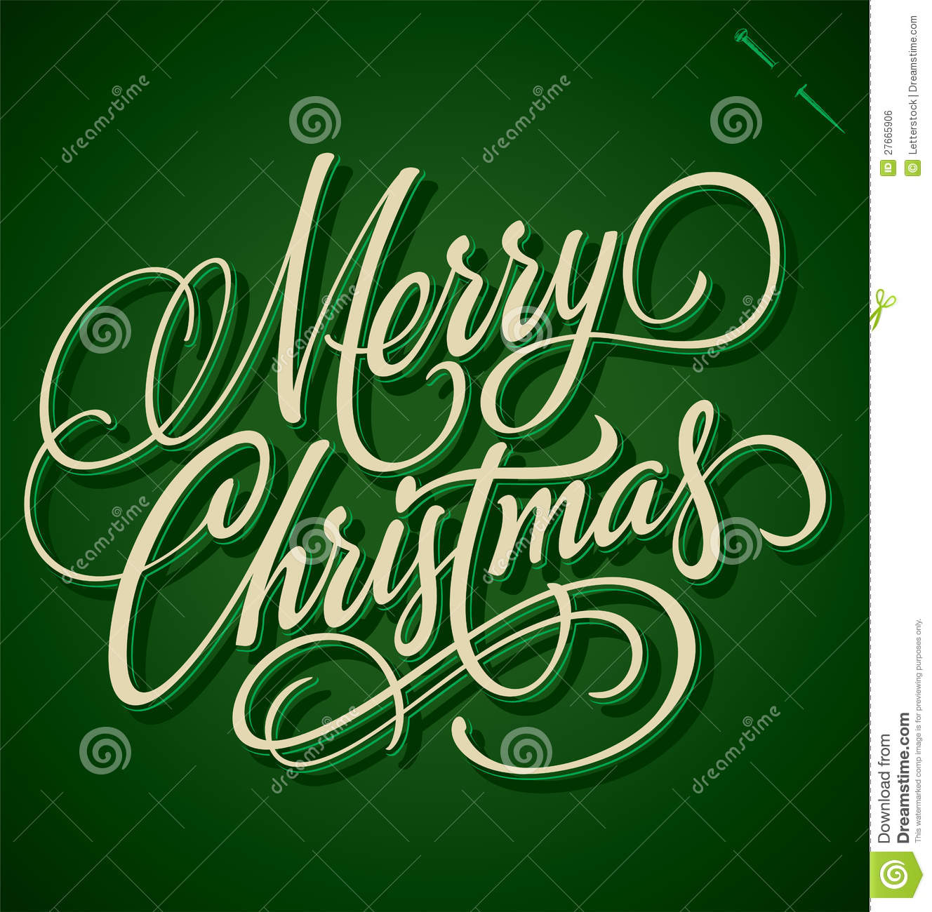 merry christmas hand lettering  vector  royalty free stock image