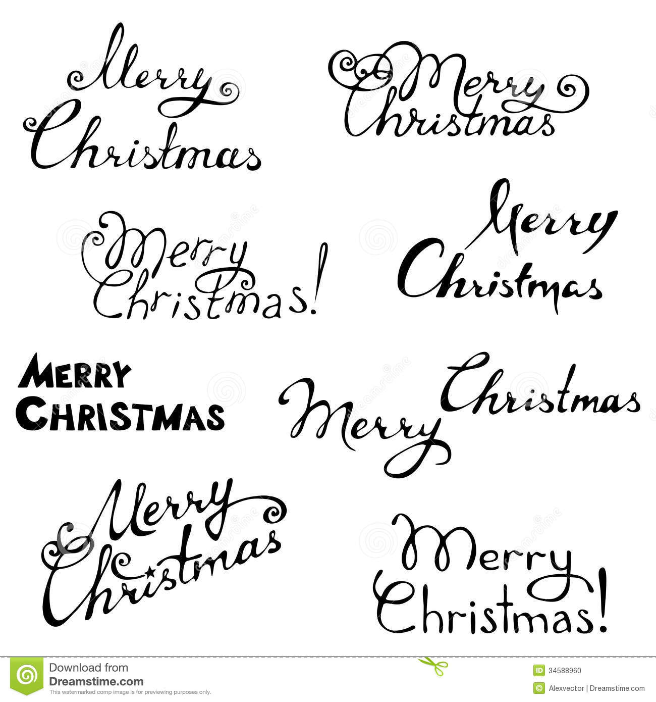 Merry Christmas. Stock Photo - Image: 34588960