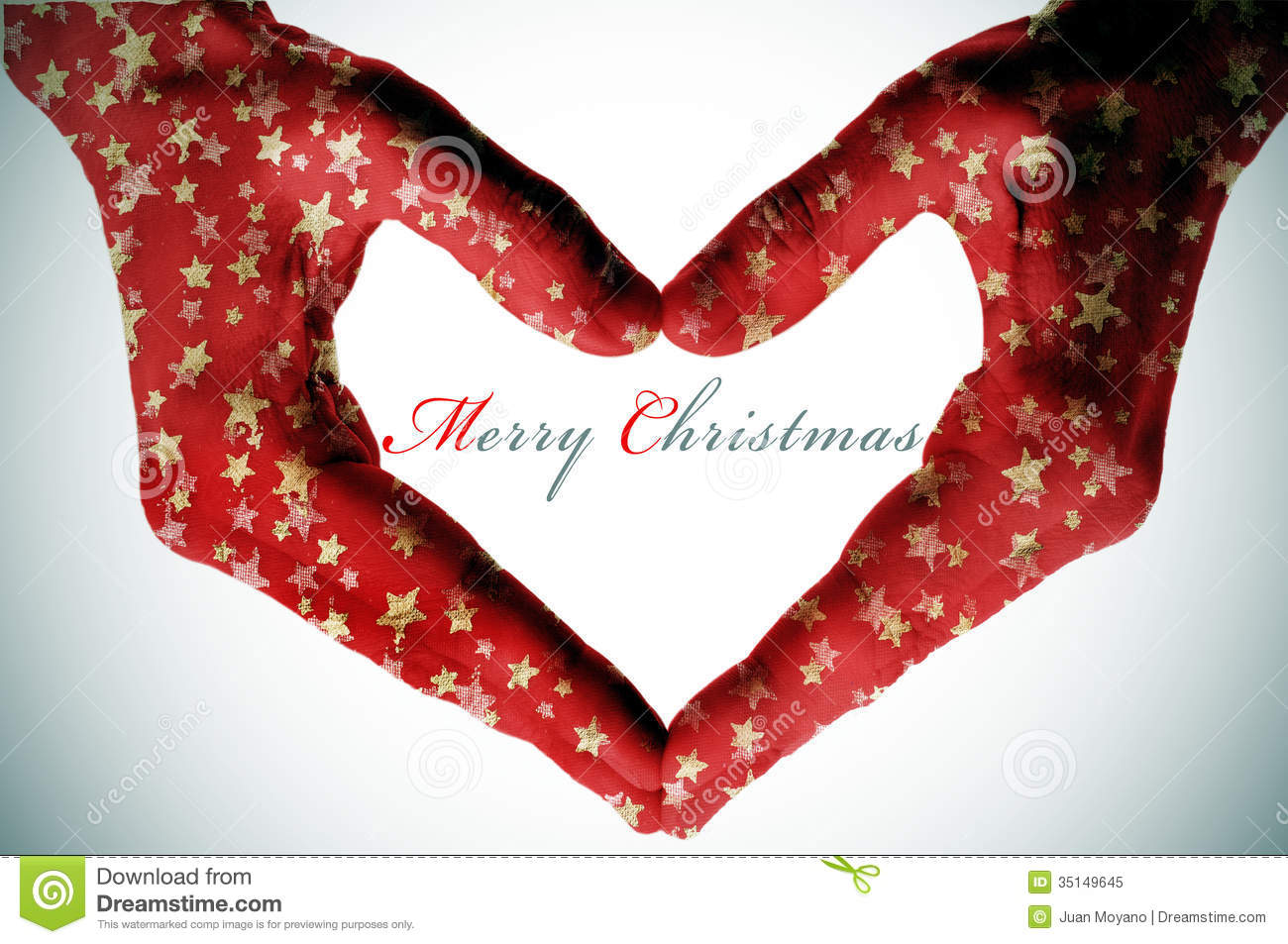 Merry christmas stock image of heart happy