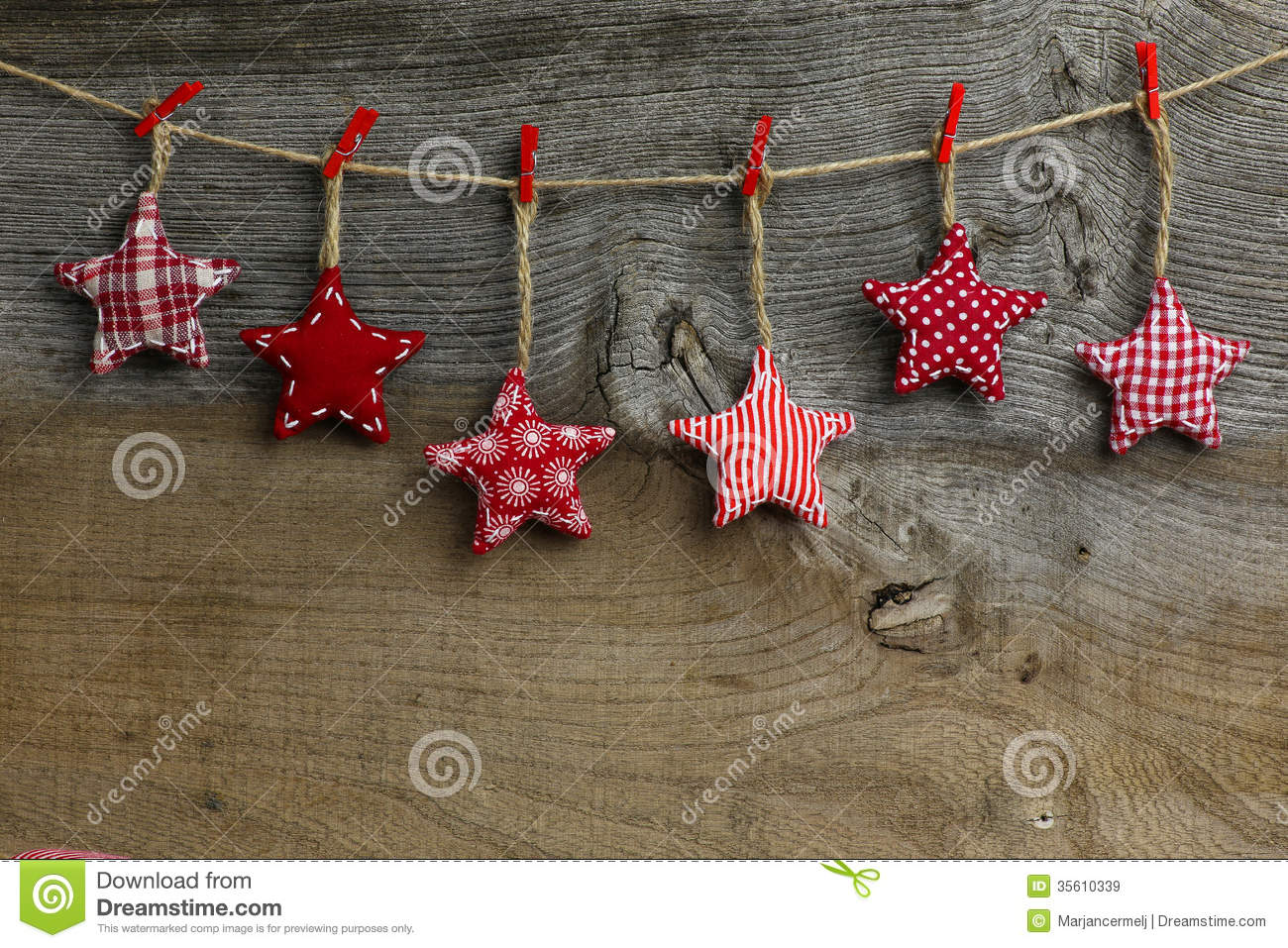 Merry christmas hanging decoration red and white pattern