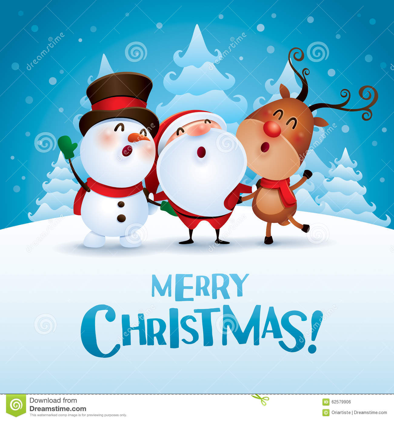 Merry Christmas! Happy Christmas Companions. Stock Vector ...