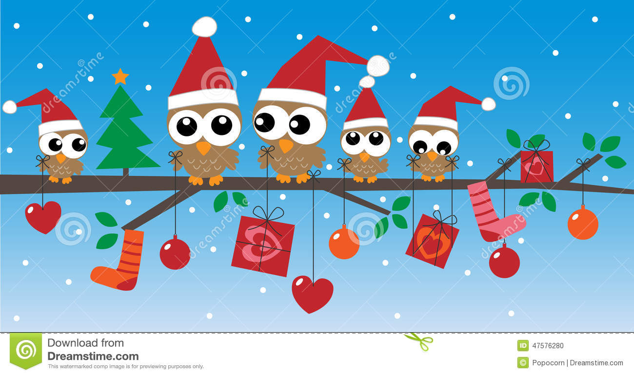 Merry Christmas Happy Holidays Stock Illustration - Image: 47576280