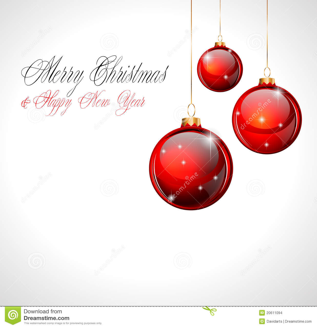 Merry Christmas And Happy New Year Background Stock Vector ...
