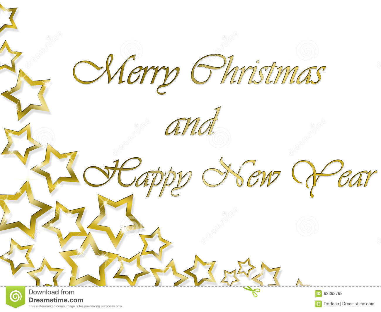 merry christmas and happy new year background with golden letters and stars