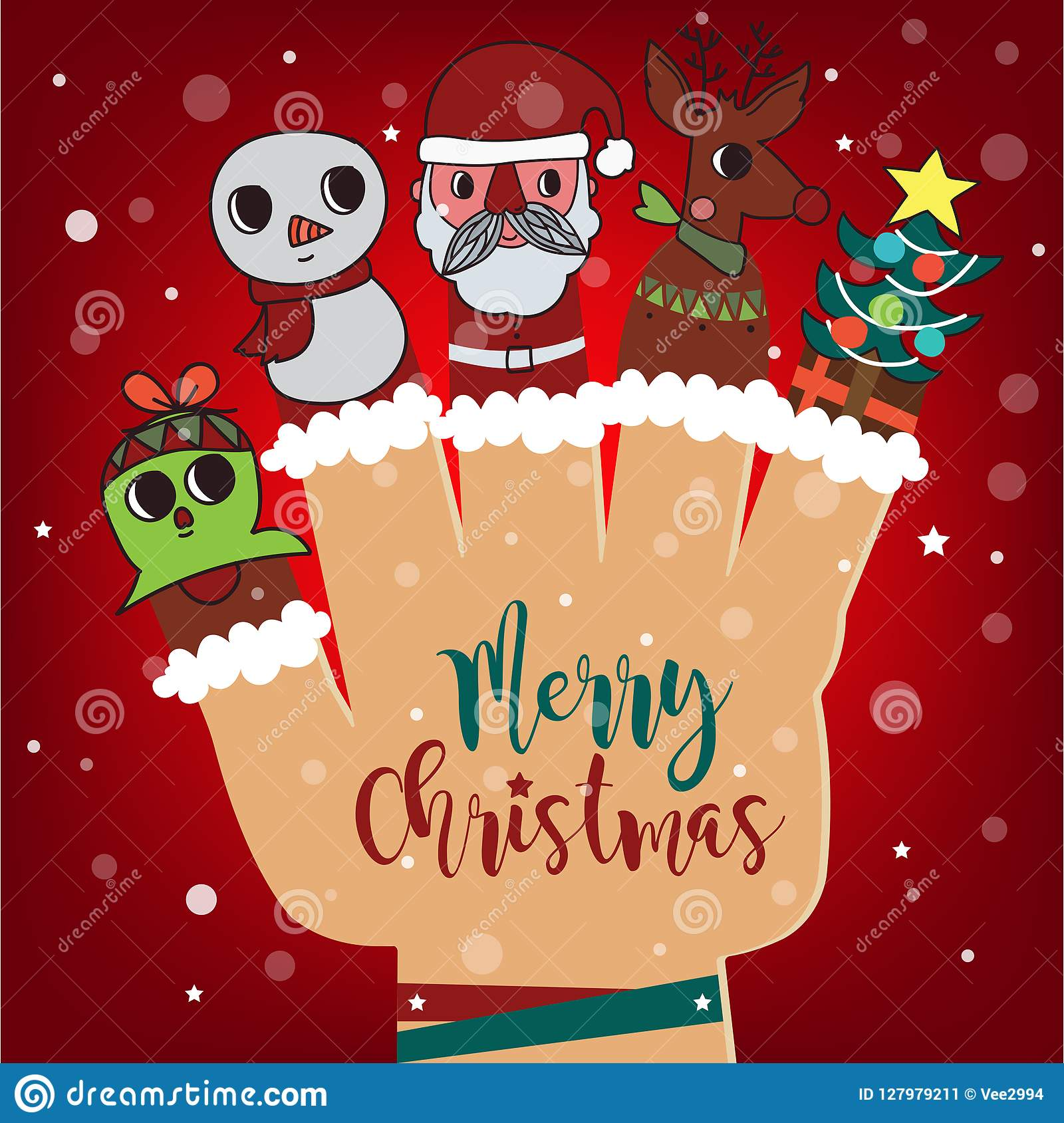 merry christmas and happy new year background santa claus and r