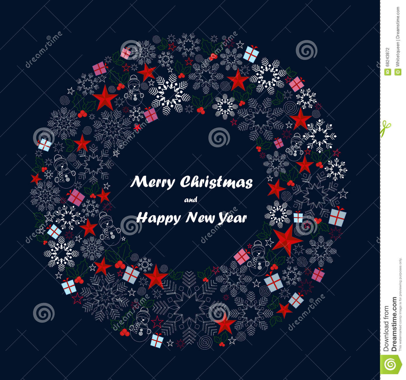 Merry Christmas And Happy New Year Background Vector Stock Vector