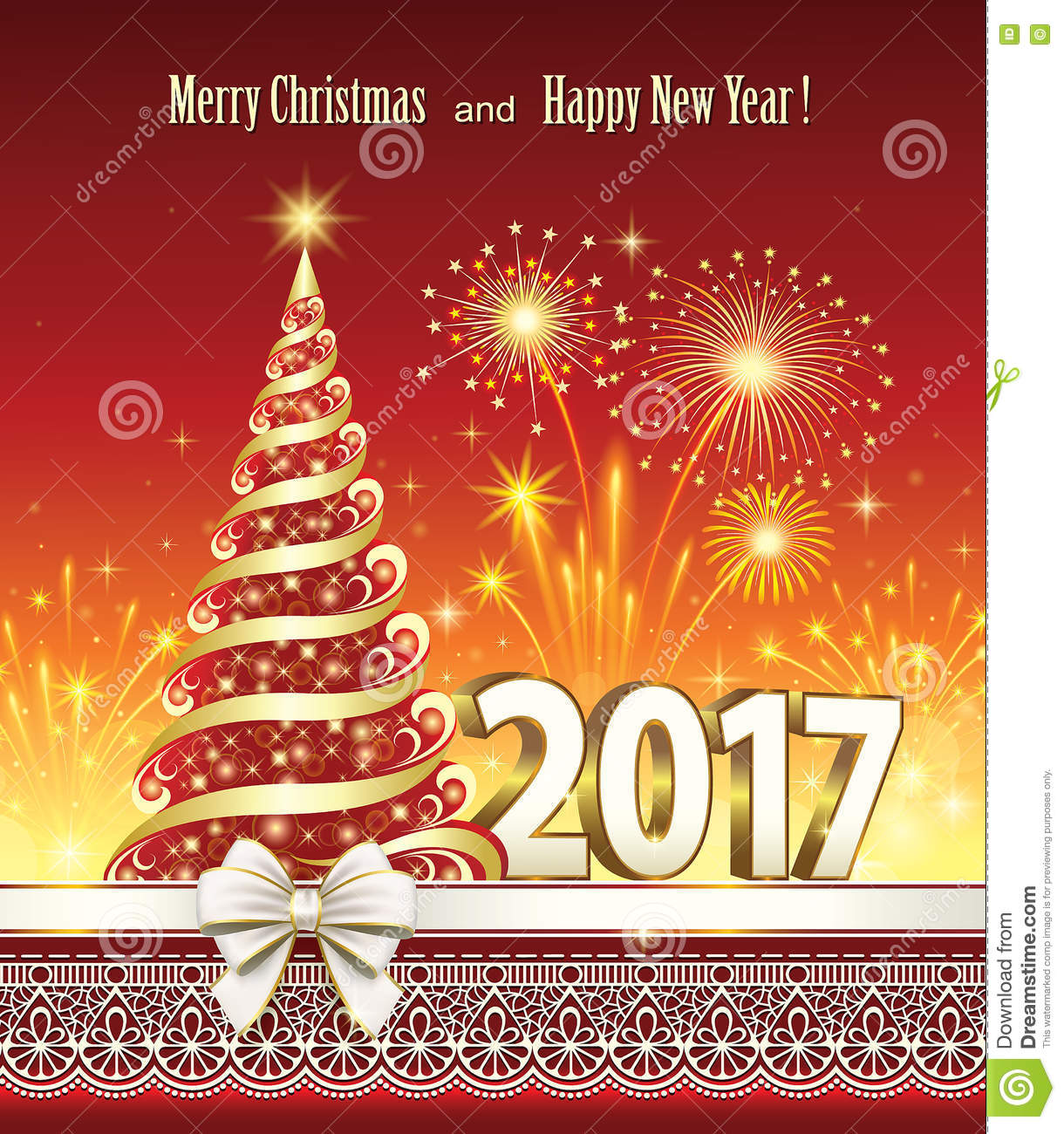 download merry christmas and happy new year 2017 stock vector illustration of christmas fireworks