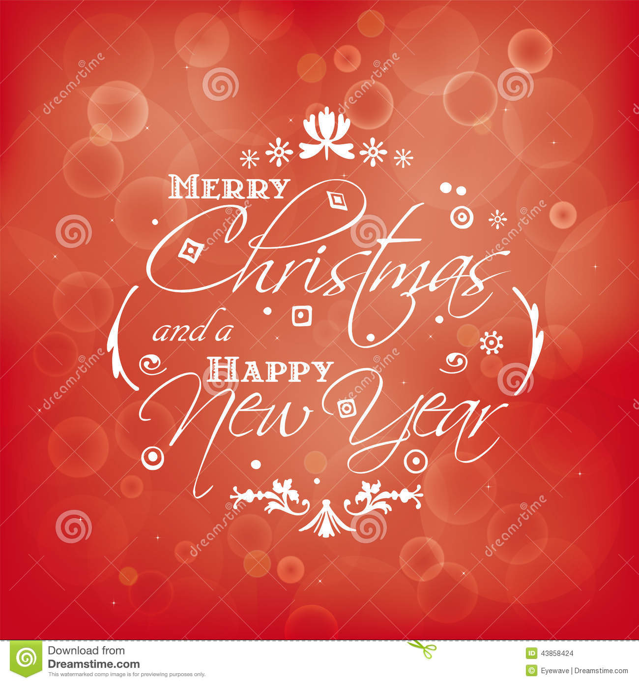Merry christmas and happy new year card design with bokeh effect merry christmas and happy new year card design with bokeh effect lettering focus kristyandbryce Choice Image