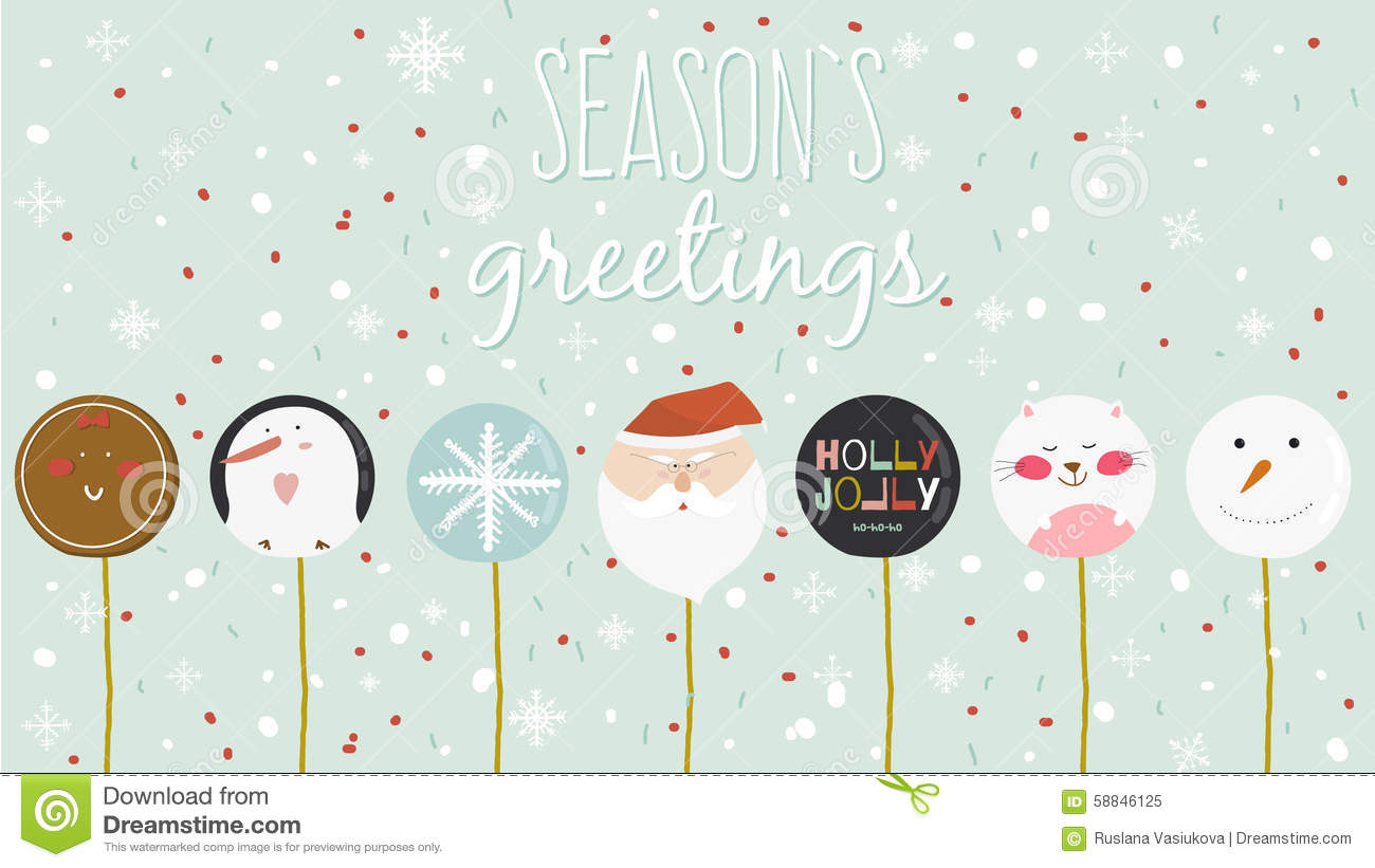 Merry christmas and happy new year card with greeting candy stock merry christmas and happy new year card with greeting candy kristyandbryce Images
