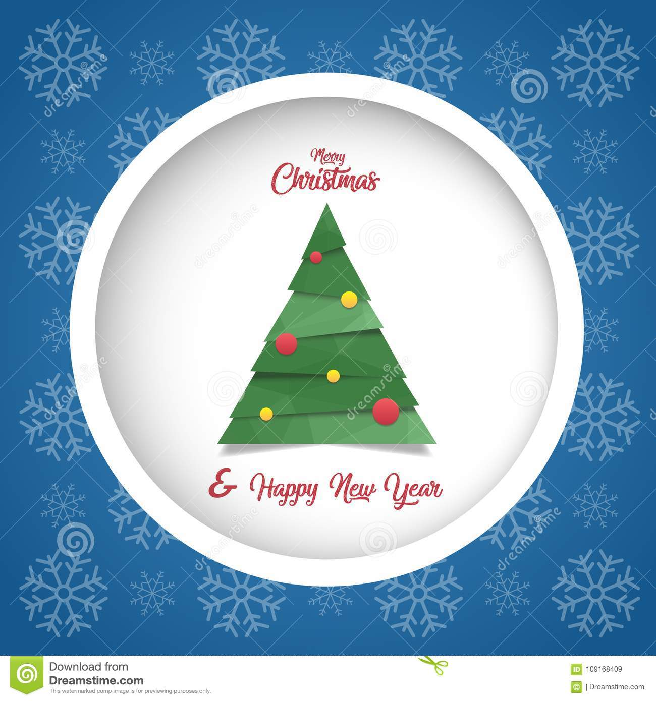Merry Christmas & Happy New Year Card Stock Illustration ...