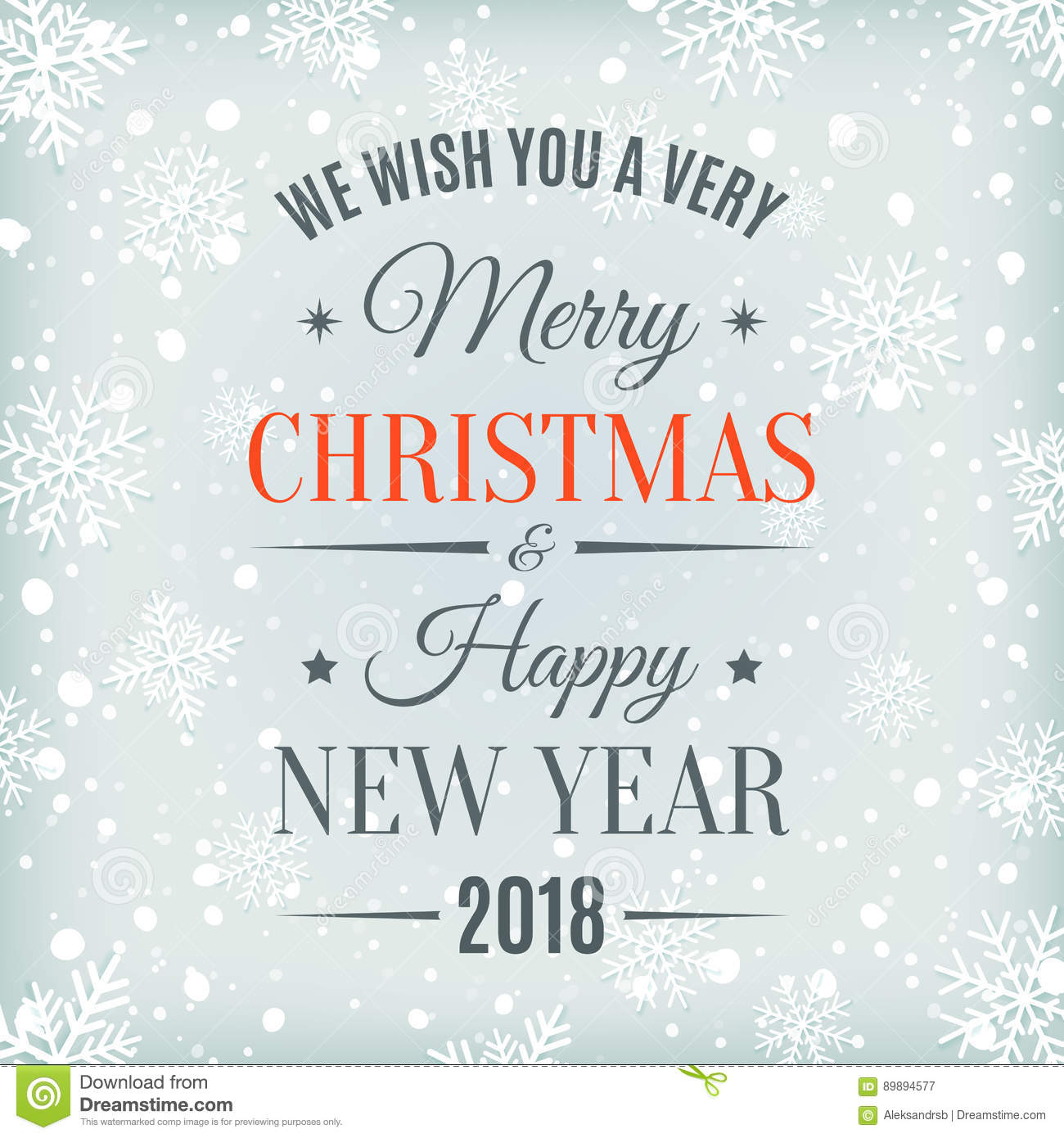 merry christmas and happy new year 2018 card