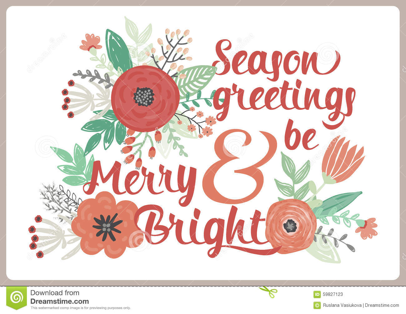 Merry Christmas And Happy New 2016 Year Card Stock Vector