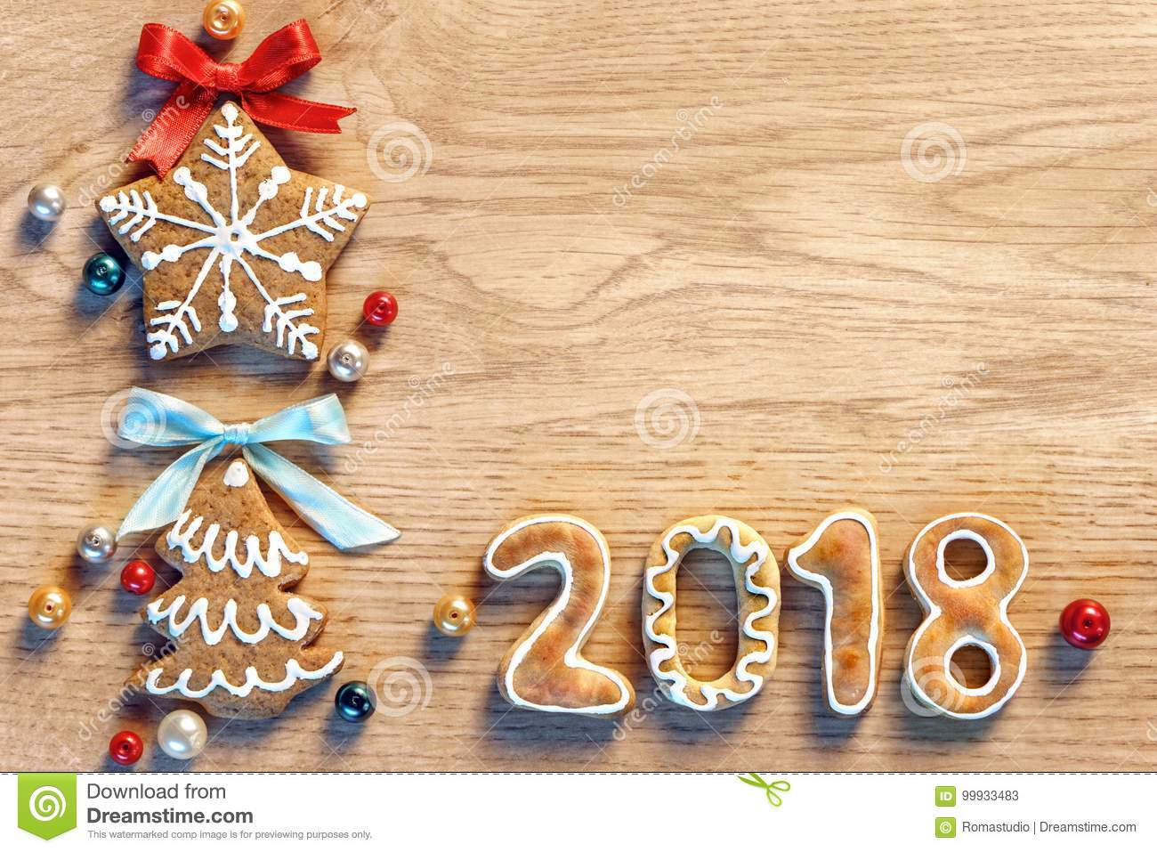 Merry Christmas And Happy New Year 2018! Stock Image - Image of ...