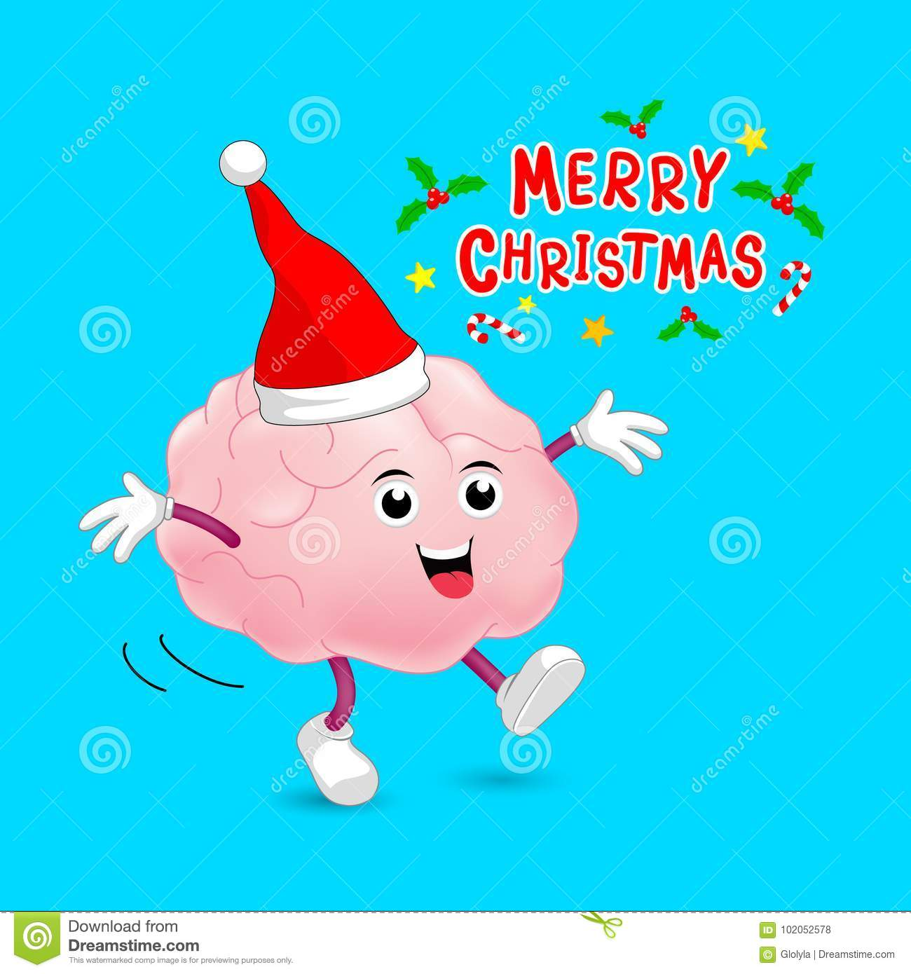 Image result for brain and christmas""