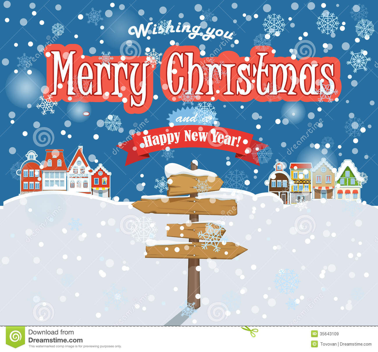 Free Merry Christmas Images.Merry Christmas And Happy New Year Stock Vector