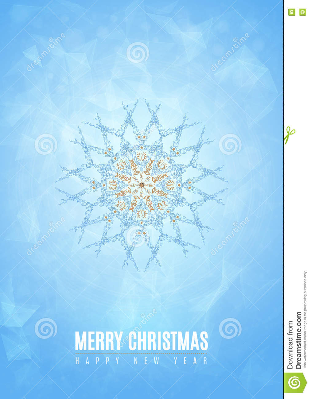 merry christmas happy new year fancy gold and white winter snowflake shape in tribal style ideal for xmas card or elegant holiday party invitation